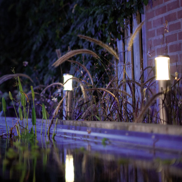 Low Voltage Garden Lights,  In-lite LIV LOW 12v LED Low Voltage Outdoor Post Light By Water Feature