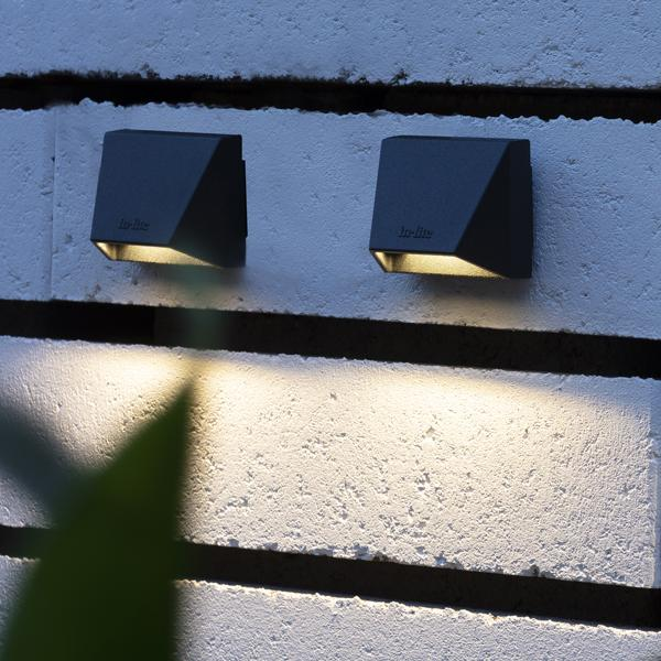 in-lite Mini Wedge Dark wall mounted