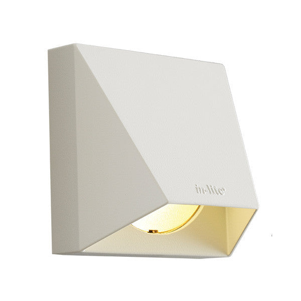 Low Voltage Garden Lights,  In-lite WEDGE WHITE 12v LED Low Voltage Outdoor Wall Lights (IP67) - Wall Lights - IN_LITE original product
