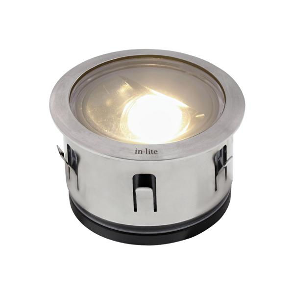 Low Voltage Garden Lights,  In-lite LUNA STAINLESS STEEL 12v LED Low Voltage Outdoor Recessed Lights (IP67)