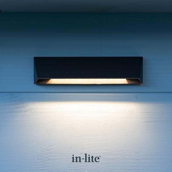 In-lite WEDGE SLIM DARK 12v LED Low Voltage Outdoor Wall Light Effect