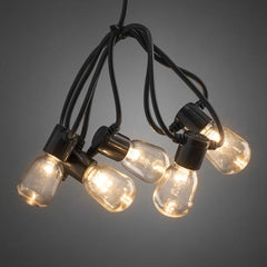 Konstsmide festoon led light set amber LED 2386-800