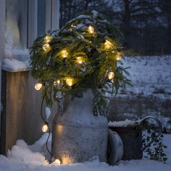 Konstsmide festoon led light set amber LED decorating outdoors