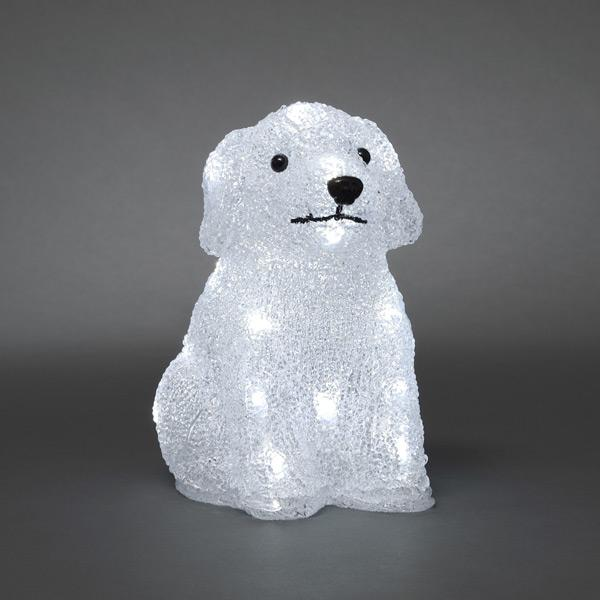 Konstsmide acrylic puppy dog 24 LED 6178-203