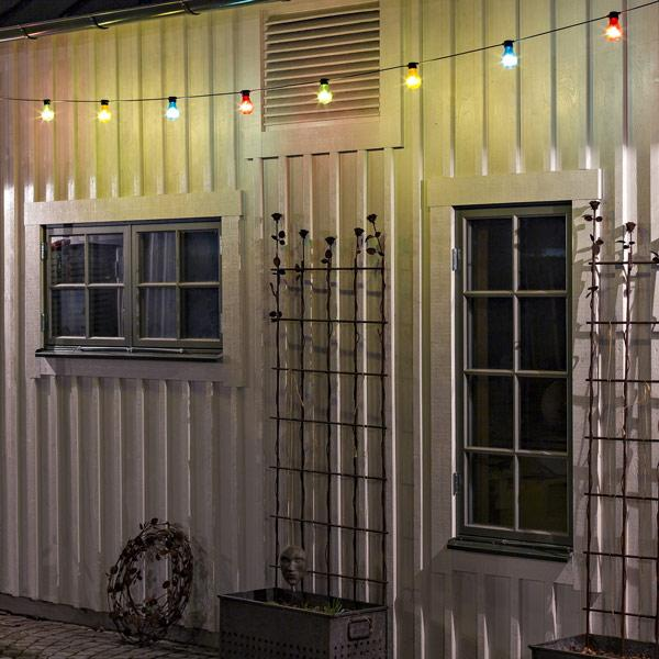 Konstsmide festoon led light set coloured LED decorating outdoors