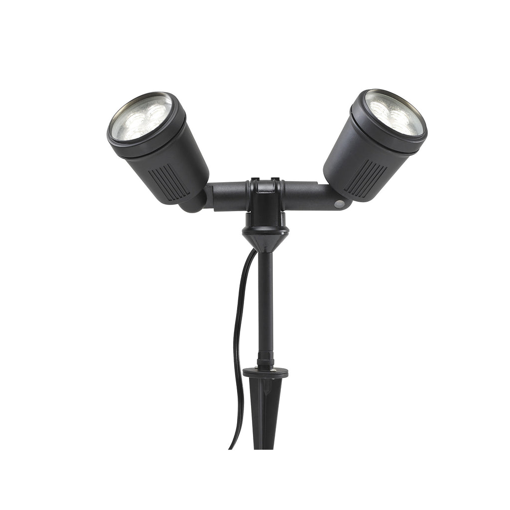 Amalfi twin low voltage garden light 12v outdoor spotlight low voltage garden lights konstsmide amalfi twin 12v led low voltage outdoor spotlights mozeypictures Images