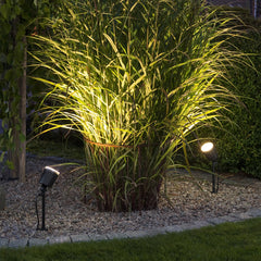 Konstsmide AMALFI (large) 12v LED Low Voltage Outdoor Spotlights In Border