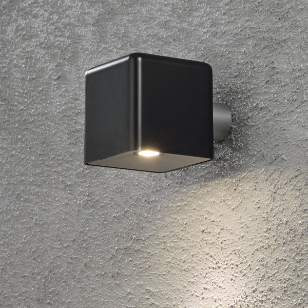 Konstsmide AMALFI WALL LIGHT BLACK mounted to wall