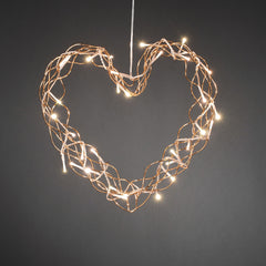 Konstsmide Metal Heart copper coloured with 32 LED