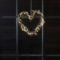 Konstsmide Metal Heart copper coloured decorating wall
