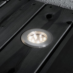 Low Voltage Garden Lights,  Konstsmide MINI LED GROUND SPOT 7654 recessed to decking