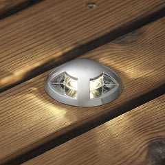 Konstsmide MINI LED GROUND SPOT 7659 12v LED decking lights mounted in timber decking