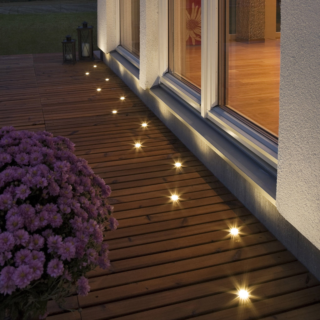 Outdoor Patio Ground Lights: MINI LED GROUND SPOT 7639 Low Voltage Decking Light