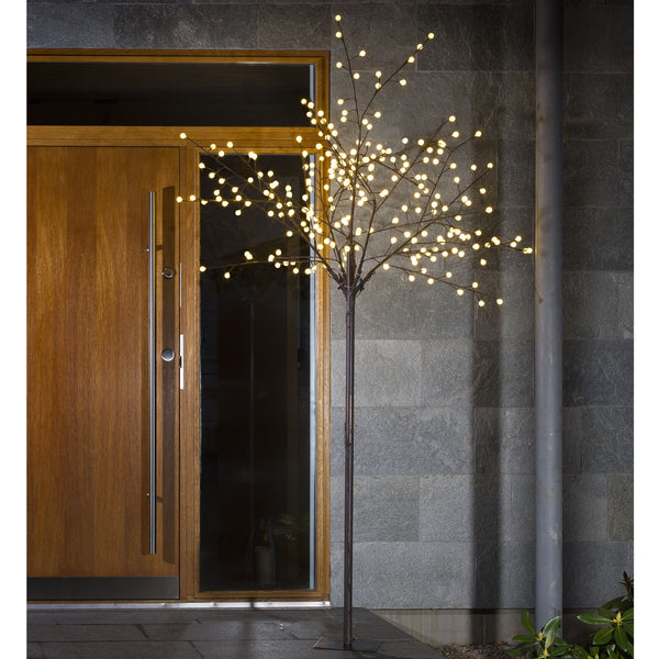 Konstsmide decorative brown tree decorating porch
