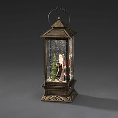 Konstsmide water filled lantern with Santa scene