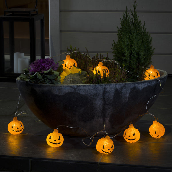 Konstsmide LIGHT SET 8x Warm White LED Pumpkins - Low Voltage Outdoor Decorative Lights