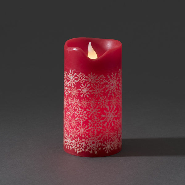 Konstsmide medium LED wax candle red