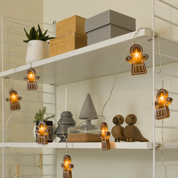 Konstsmide Mini Light Set 8 LED Gingerbread Girls on Display Cabinet