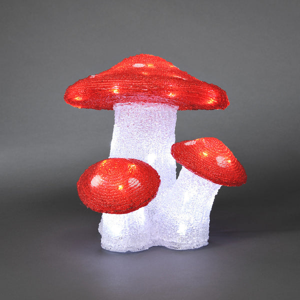 Konstsmide MUSHROOMS With 48 White LEDs - Outdoor Decorative Lights