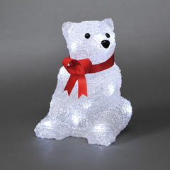 Konstsmide SITTING BEAR With 16 White LEDs  - Low Voltage Indoor Decorative Lights
