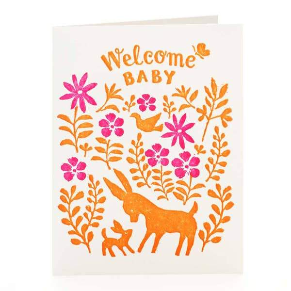 Welcome Baby Letterpress Card