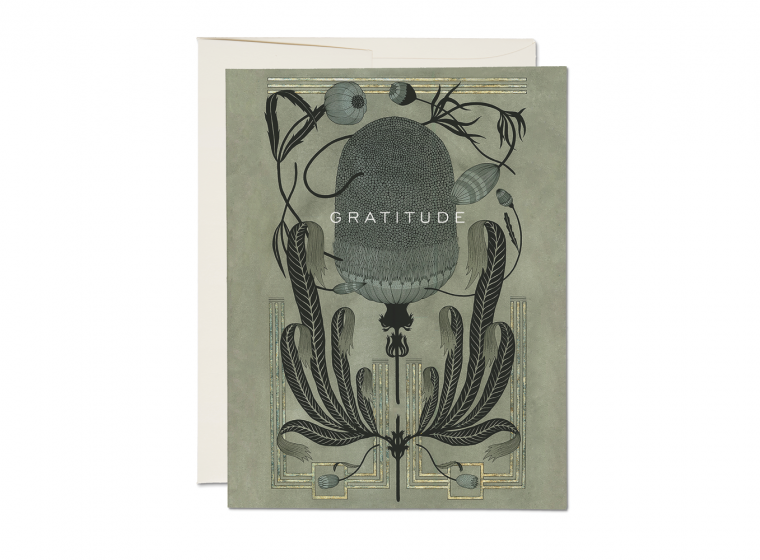 Art Deco Gratitude Card