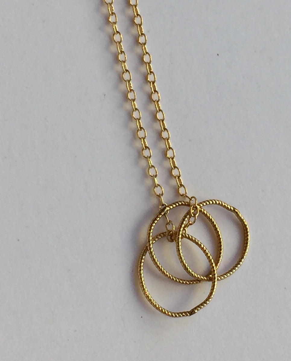 3 Ring Necklace