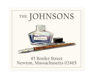Watercolor Illustration Return Address Labels