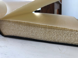 "Black Italian Leather Photo Album (8 1/2"" x 9"")"