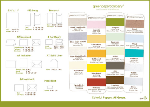 8 ½ x 11 CARD STOCK - Solid Colors
