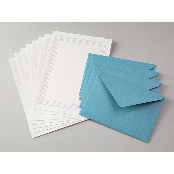 letterpress Letter set • blue
