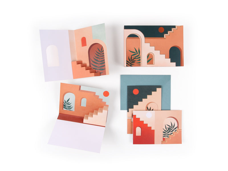 Staircases & Archways Pop Up Stationery