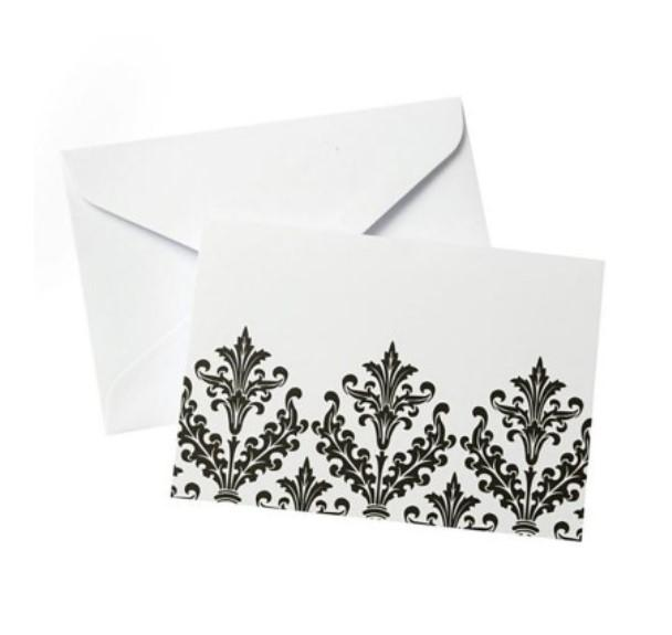 Black & White Damask - Set of 20