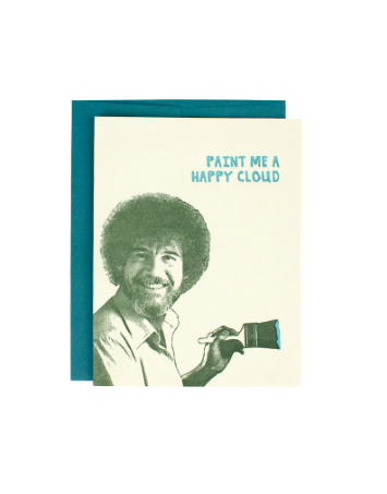 Oblation Bob Ross Greeting Card