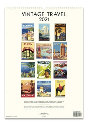 Vintage Travel Wall Calendar