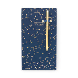 Navy Constellations Chunky Notepad with Pen