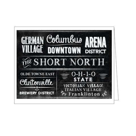 Columbus Neighborhoods Note Card Set