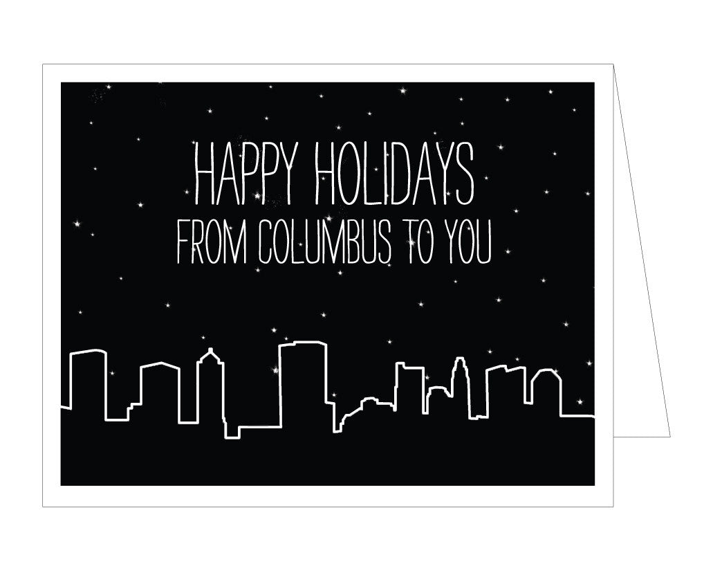 Columbus Skyline Holiday Card (Set of 8)