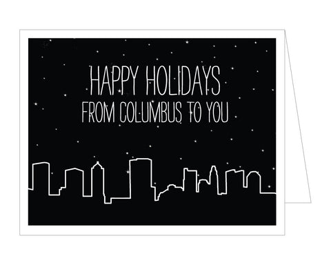 Columbus Skyline Holiday Card