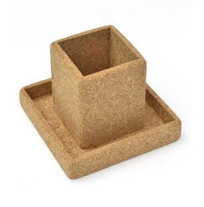 Cork Pencil Cup With Tray