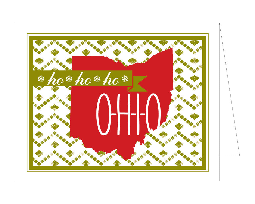 Cozy Ohio Christmas Card