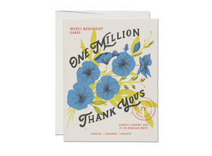 One Million Thank Yous Card