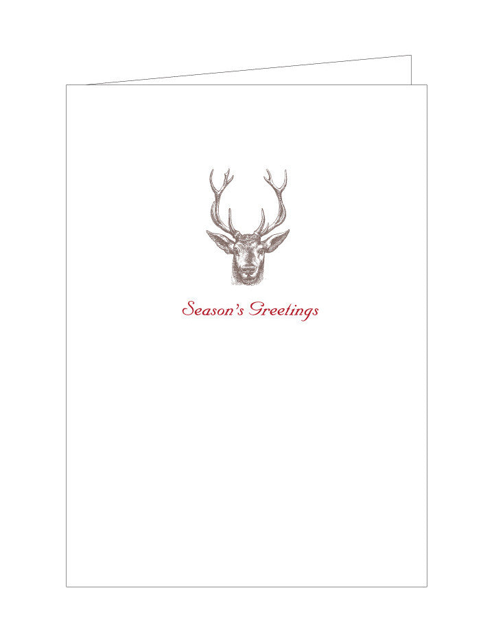 Deer Holiday Note Cards (Set of 8)