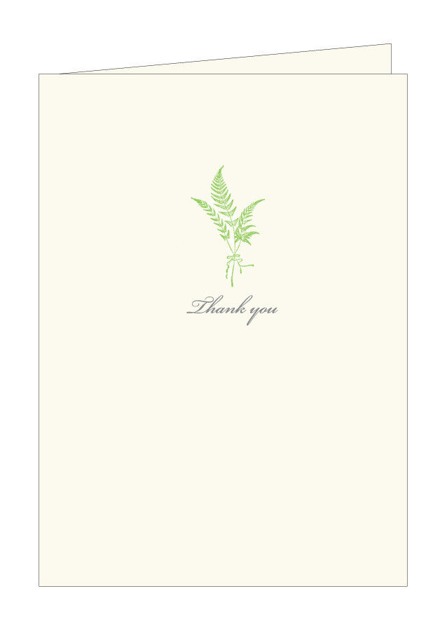 Fern Thank You Notes
