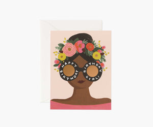 Flower Crown Birthday Girl Card