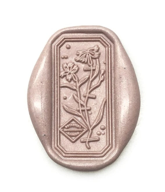 Fringed Pink Wax Seal Stamp
