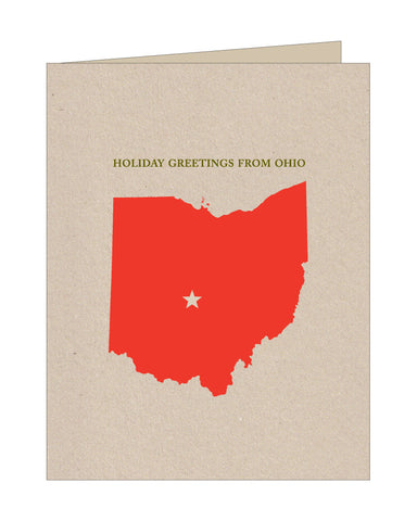 Ohio Holiday Greetings Card