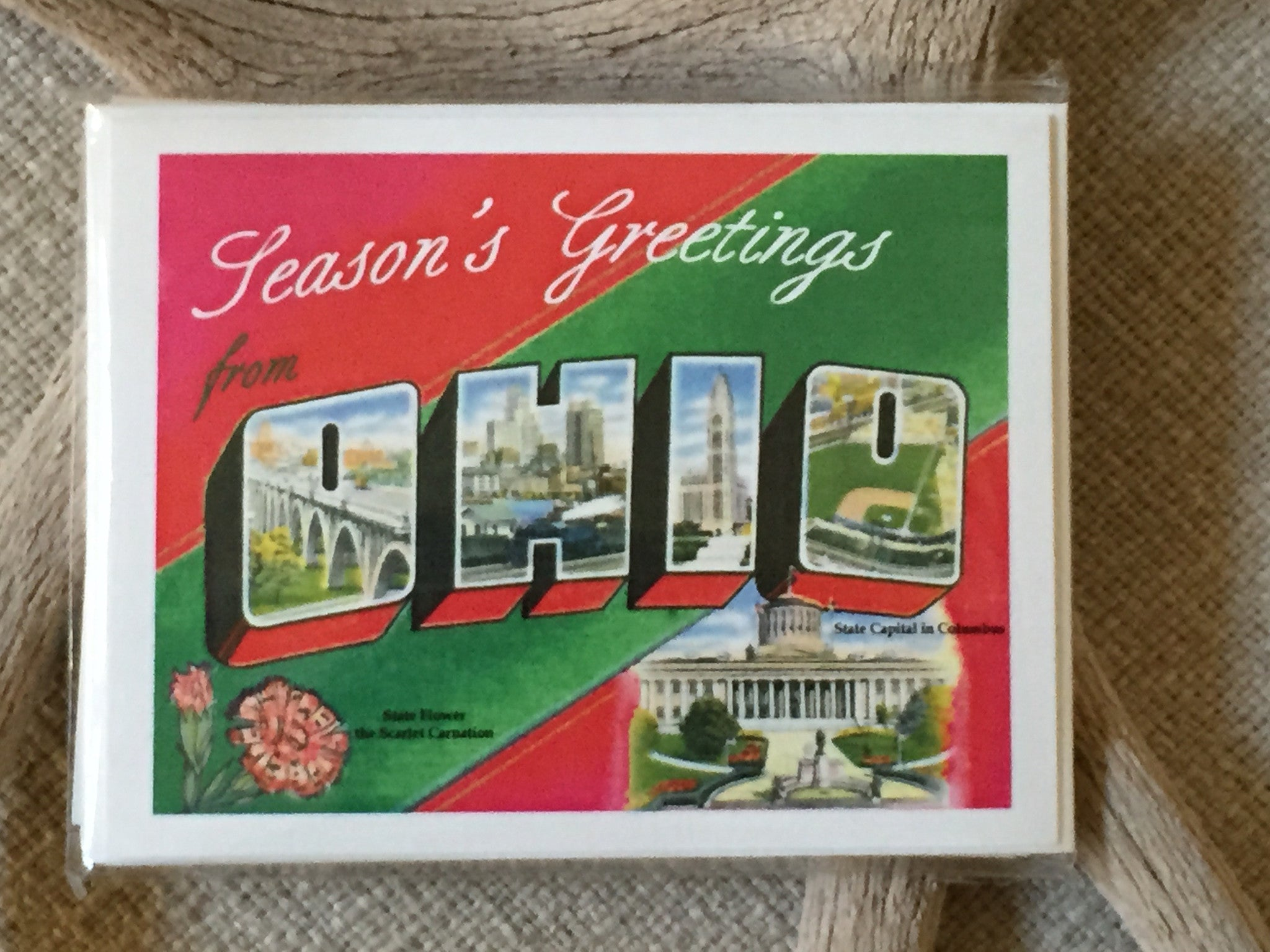 Vintage Ohio Postcard Holiday Card