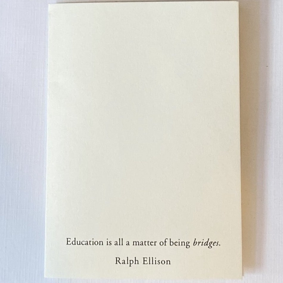 Ralph Ellison Quote Card