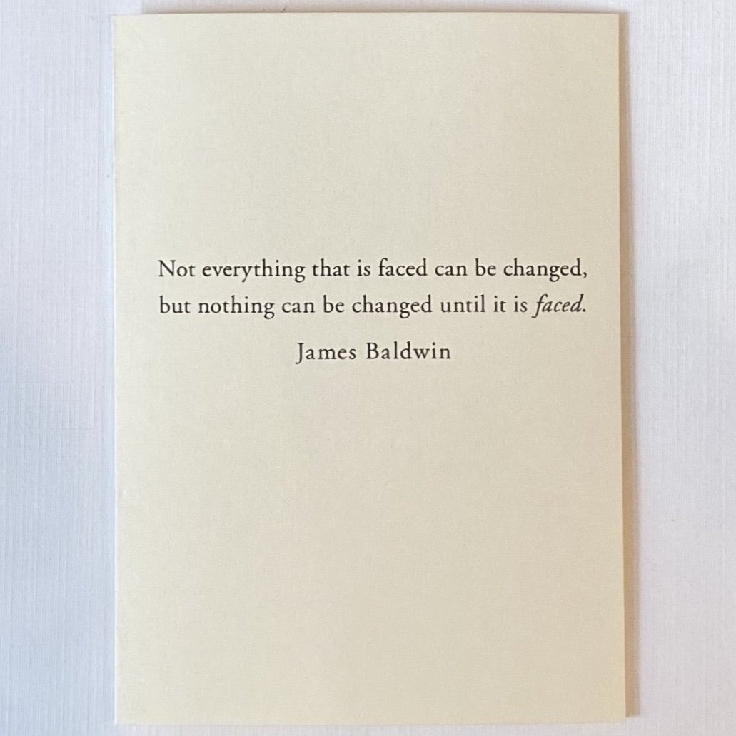 James Baldwin Quote Card